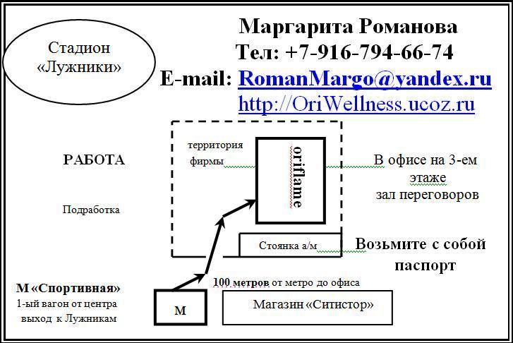 офис Орифлэйм , М. Спортивная